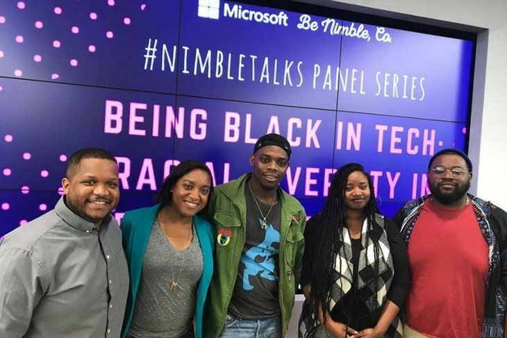 Being black in tech group photo